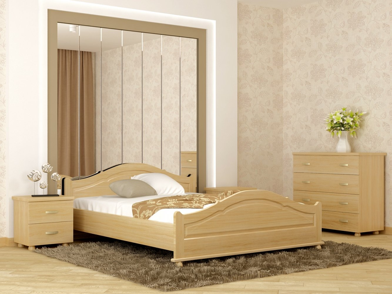 Ліжко Орхідея 4