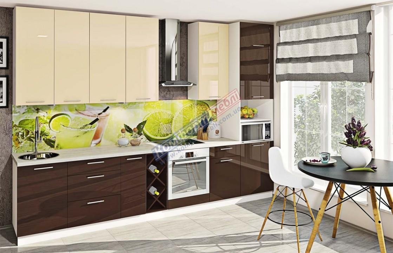 Модульна кухня Фарбований високий глянець  6