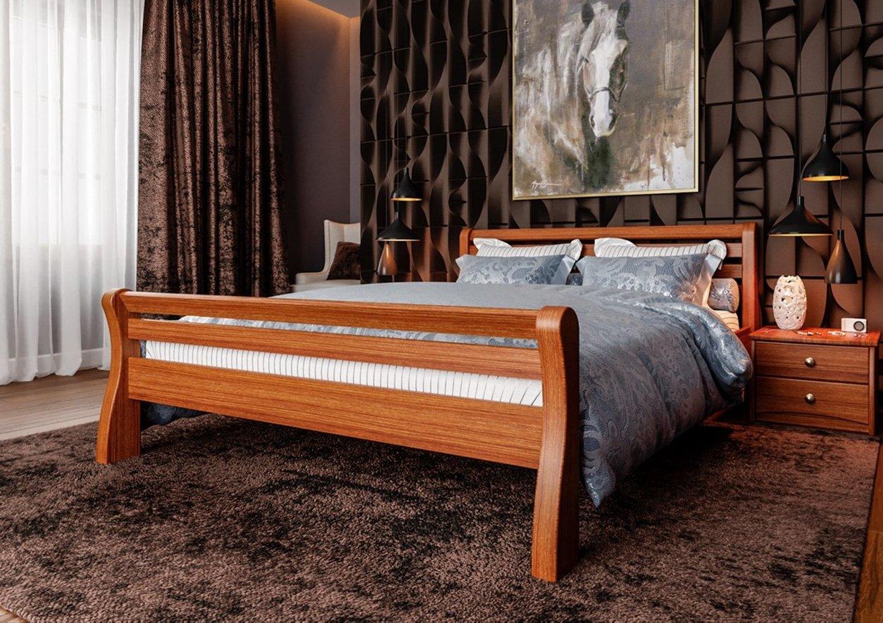 Кровать Ретро (твердая спинка) 1