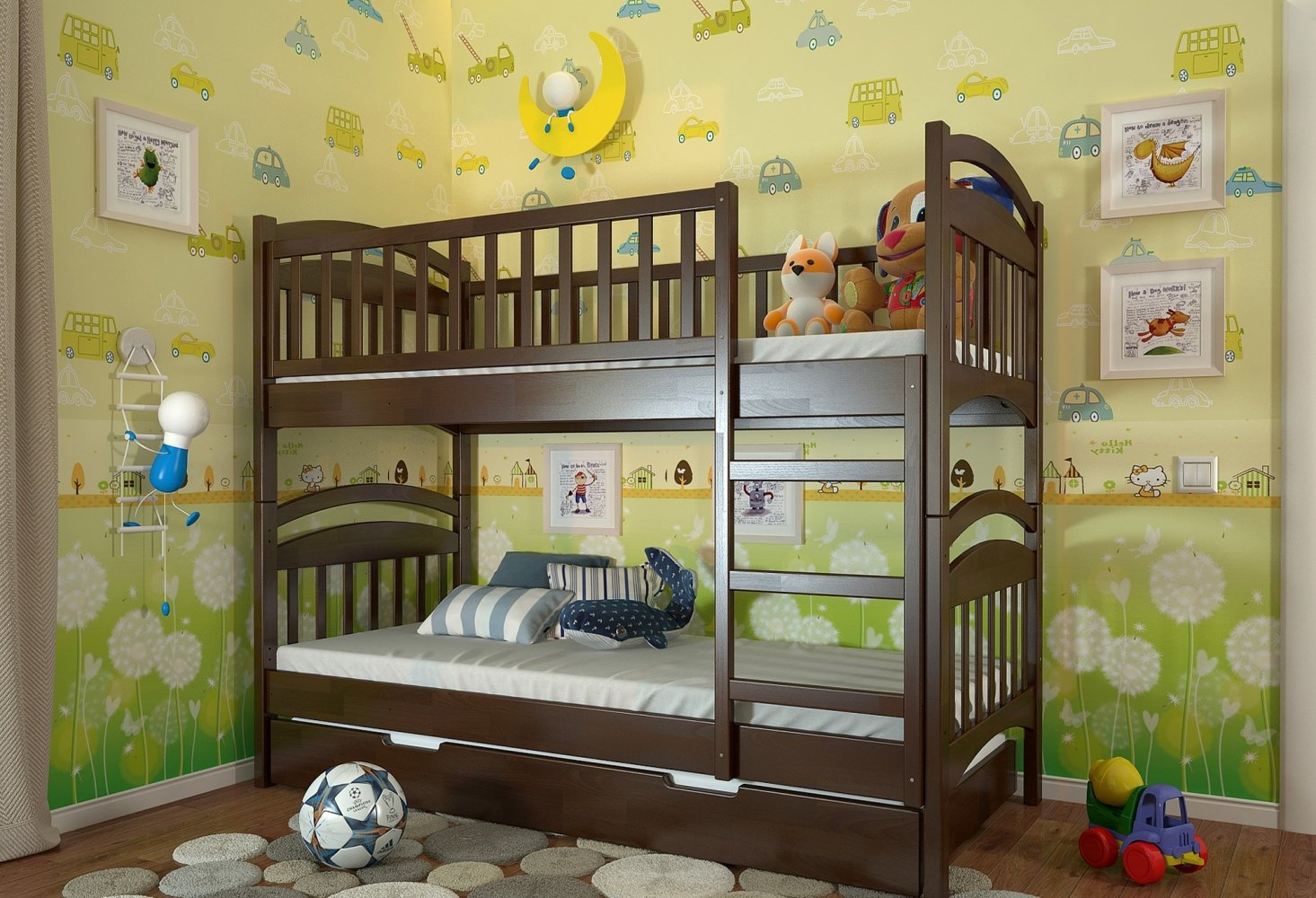 Двухьярусная кровать  Смайл 4
