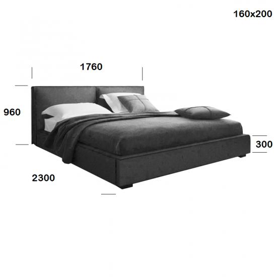 Ліжко Toronto з механізмом 4
