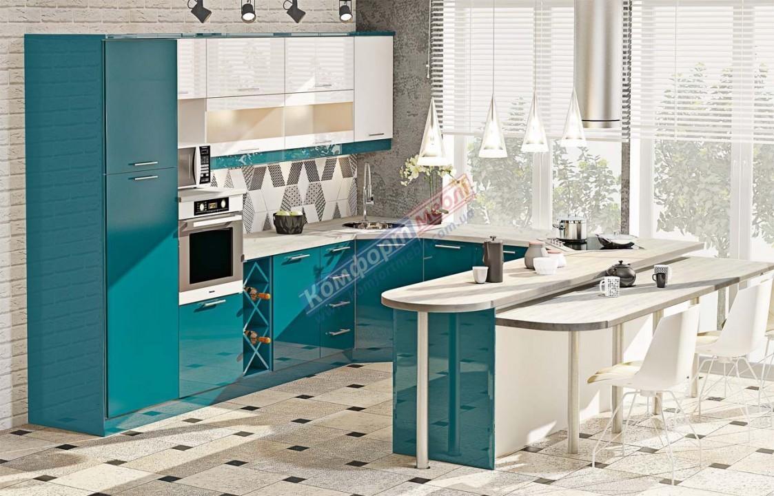 Модульна кухня Фарбований високий глянець  9