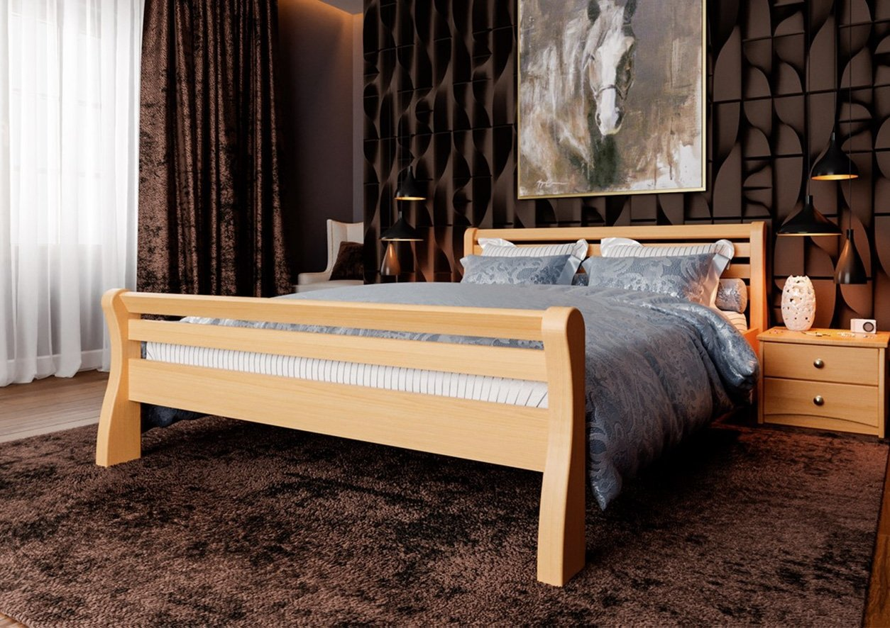 Кровать Ретро (твердая спинка) 4