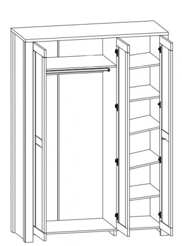 Шкаф 3D Антверпен II 0