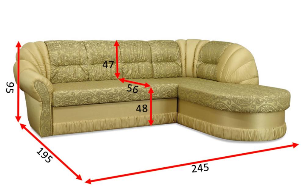 Кутовий диван Посейдон 13