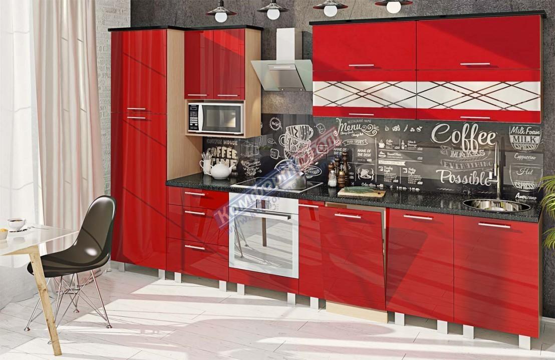 Модульна кухня Фарбований високий глянець  12