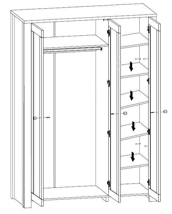 Шкаф 3D Антверпен II 2