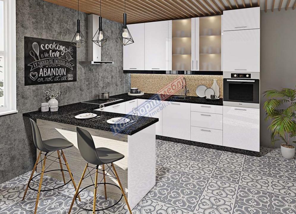 Модульна кухня Фарбований високий глянець  8