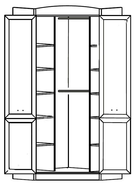 Шкаф кутовая SZFN2D Салерно 2