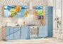Модульна кухня Хай-тек глянець перламутр 18
