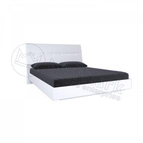 Ліжко з каркасом з мякою спинкою Рома