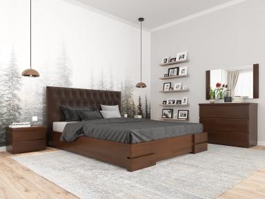 Ліжко Камелія ромб з ПМ Білий