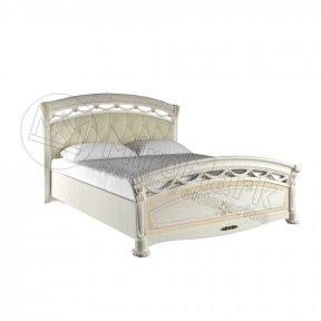 Ліжко 160 з каркасом м'яка спинка Люкс Роселла