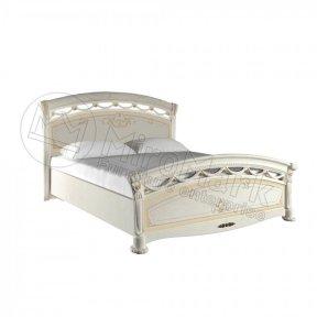 Ліжко 160 з каркасом тверда спинка Люкс Роселла
