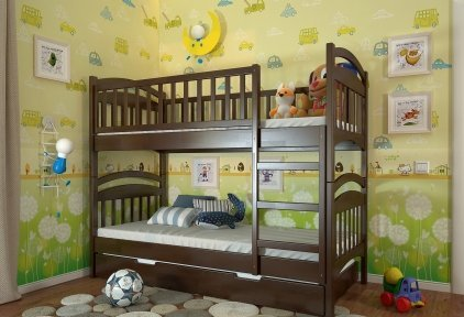 Двоярусне ліжко Смайл